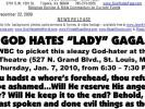 Fred Phelps: God Hates Lady Gaga!