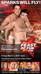 Come to our live podcast from Steamworks, March 5, 2010