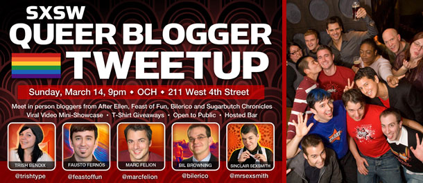 EVENT: SXSW Queer Blogger Tweetup