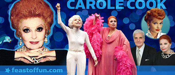 Carole Cook with Carol Channing, her husband Tom Troupe and Lucille Ball