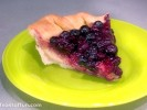 Bertha Mason's Lemon Chess Pie with Blueberry Topping
