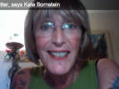 "Kate Bornstein's ""It Gets Better"" Video"