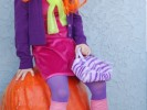 Kid Goes as Daphne From Scooby Doo for Halloween