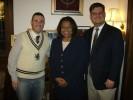 Phil Reese, Senator Carol Moseley Braun and Phil's friend Eric