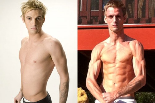 Aaron Carter's before and after picture, posted in 2010.