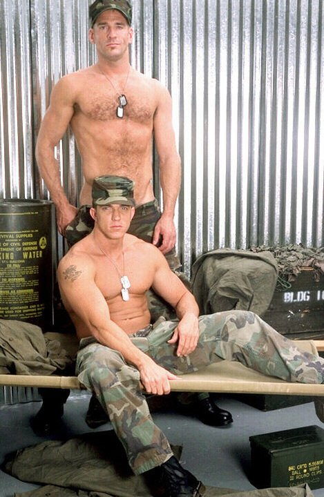 hunk military gay black stockings porn