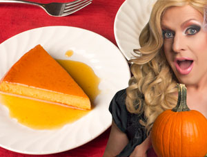 Cooking with Drag Queens: Pumpkin Pie Flan with Pandora Boxx