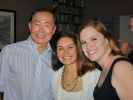 George Takei having a good time with the ladies