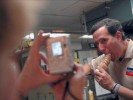 Ice Cream Cone Makes Rick Santorum Lose Control