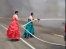 VIDEO: Firemen in Drag Put Out Fire