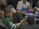 VIDEO: Santorum Gay Smootch-Bombed at Rally