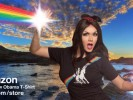 Manila Luzon wearing the Rainbow Obama T-Shirt