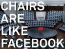 Facebook Commercial Features Empty Chairs