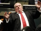 Watch Rob Ford, the Hilarious Crack-Smoking Toronto Mayor Rob Ford Knock a Woman Down at a City Council Meeting