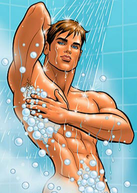 And by model, we mean he looks like a Glen Hanson cartoon hunk come to life.