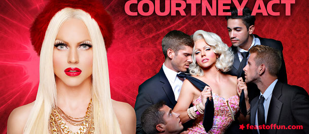 Courtney Act real life is an assortment of sexual experiences and identities. Photo: Magnus Hastings