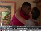 Michael Sam kisses his boyfriend upon hearing the news that he got drafted into the NFL.