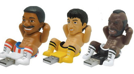 He probably stores his videos on these suggestive Rocky flash drives.