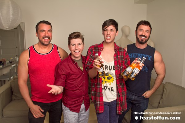Marc Felion, Tommy Holl, Adore Delano and Fausto Fernós. Photo: Fausto Fernós.