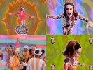 "Lady Miss Kier with Dee-Lite in their video ""Groove is in the Heart."""