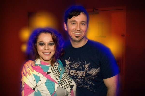 Lady Miss Kier with Fausto Fernós in San Francisco, Aug. 20, 2008. Photo: Marc Felion.