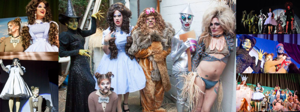 Annecy as Toto in the Wizard of Odd. Also in the photo from left to right: Peaches Christ, Sharon Needles, Cousin Wonderlette, Raya Light and Suppositori Spelling. Photos: Jose Guzman Colon.