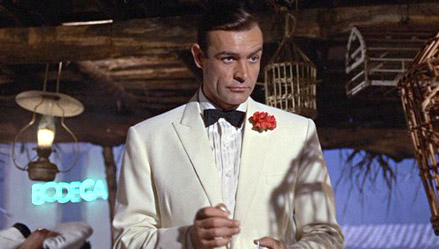 In the 1920-50s gay men wore red carnations as code to identify each other. We're sure some costume designer for James Bond chuckled when he put Sean Connery in one.