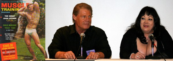 """Actor and physique model Dennis Busch, who played The Vegetable in """"Faster Pussycat! Kill! Kill!"""" is alive and well today, here at a panel with late Tura Satana. —source"""