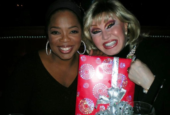 Oprah Winfrey hangs out with her longtime gal pal Chili Pepper. Photo: Candace Jordan.