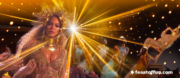 Beyoncé gets tipsy at the 2017 Grammys in her fierce and fabulous pregnant glory.