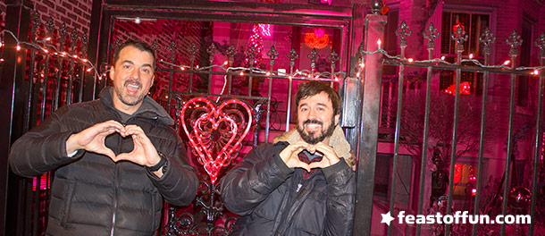 Marc Felion & Fausto Fernós want to remind you to make love not war. Maybe what those few LGBT Trump supporters need is just a little love in their heart, and their heads out of their butts. Photo: Fausto Fernós.