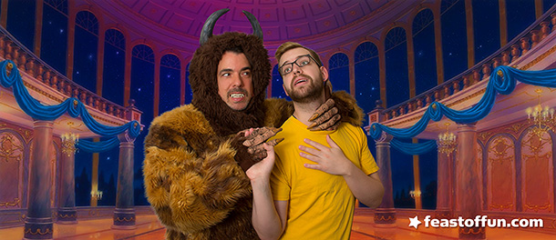 Marc Felion as the Beast and Cody Melcher as Belle. Photo: Fausto Fernós.