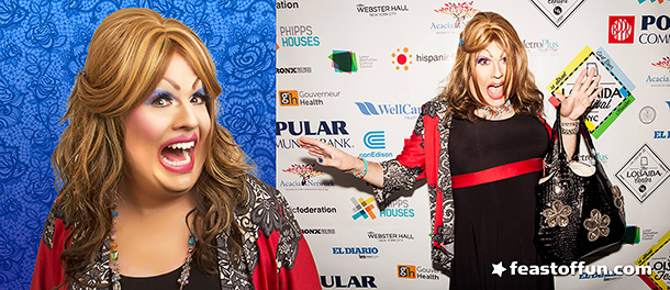 Lola Von Miramar even gets the red carpet treatment, just like the RuGirls. Photos: Fausto Fernós, Javier Romero