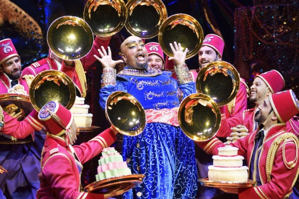 The fiercest queen on Broadway: Anthony Murphy stars as the Genie in Disney's Aladdin the Musical. Photo: Deen van Meer