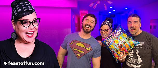 Dina Nina Martinez with Fausto Fernós & Marc Felion. Photos: Joe Lewis, Fausto Fernós.