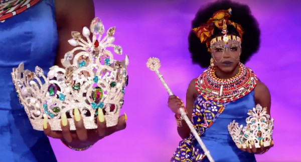 Bob the Drag Queen clutches the crown one last time. Photo: LOGO TV.