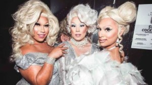 Drag queens Coco Jumbo, Vybe and Ivy Leaguee are the new Defenders.