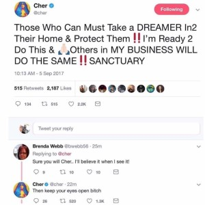Who wants to live with Cher?