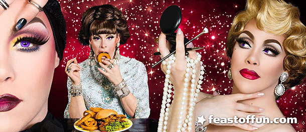 Violeet S'Arbleu likes to save money and loves Chinese buffets. Photos: Michael Andrew Voight, Hamburger Marys.