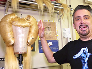 Perfidia's Wig Room, Backstage at Hedwig on Broadway!