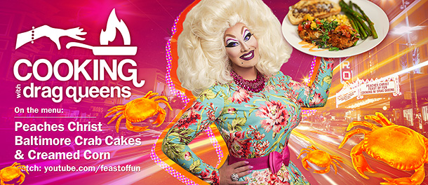 Cooking with Drag Queens: Peaches Christ - Baltimore Crab Cakes