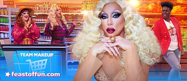 FOF #2907 -  Sherry Vine and Jackie Beat Fill Up The Cart on Supermarket Sweep